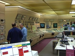 Byron generating station control room.