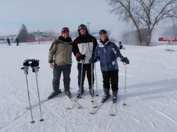 Skiing with Meteorologist Aaron Brackett and Reporter Bill Miston