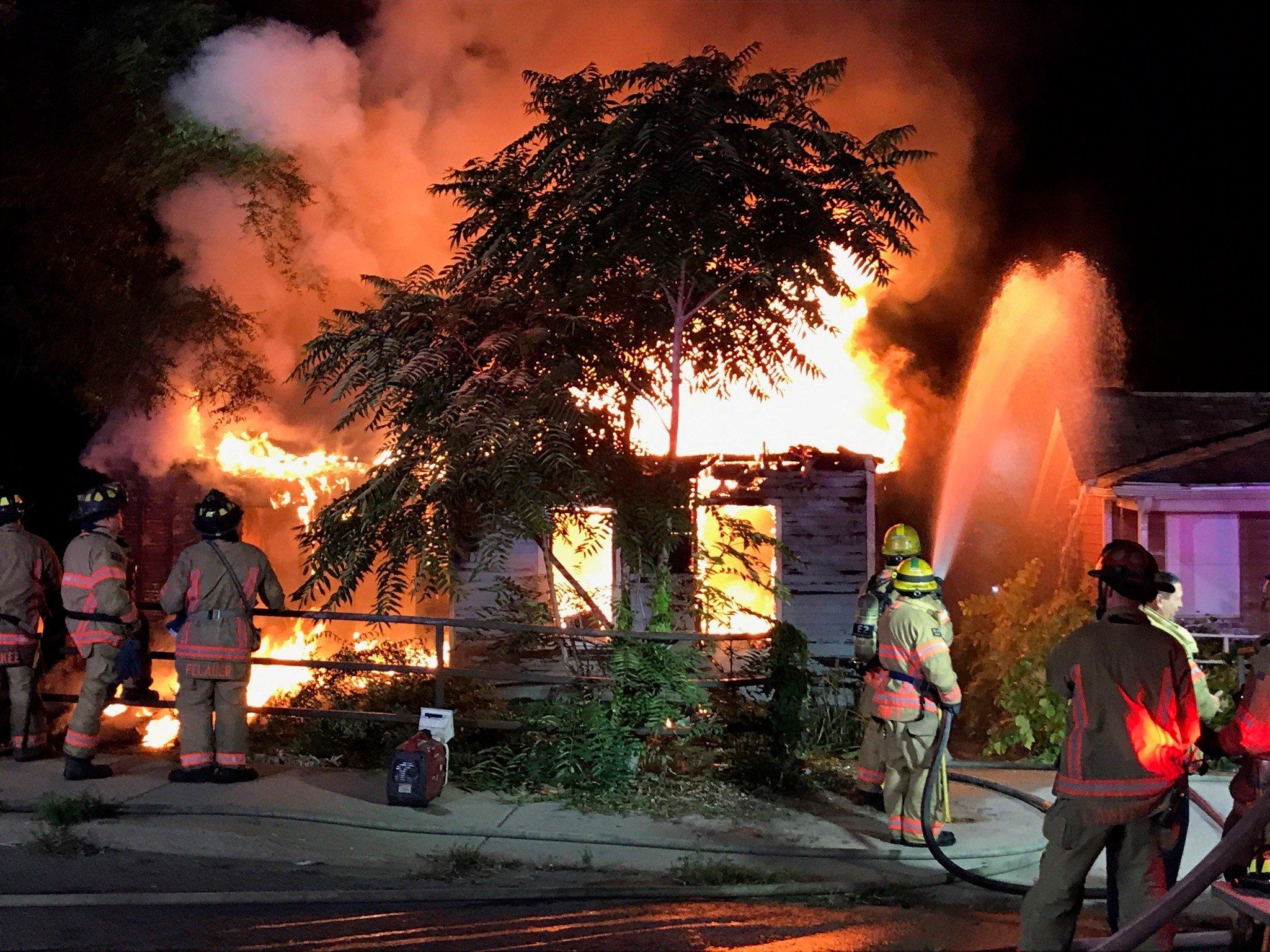 Vacant house fire on Kishwaukee St