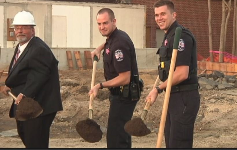 Village leaders break ground on new police department