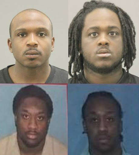 Terrick Mackey (top left), Deontay Gunnell (top right), Donnie Williams (bottom left), Lonnie WIlliams (bottom right)