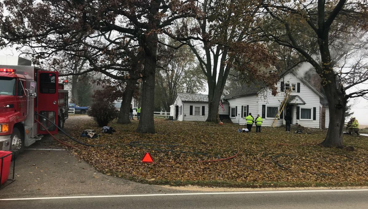 House fire in Poplar Grove