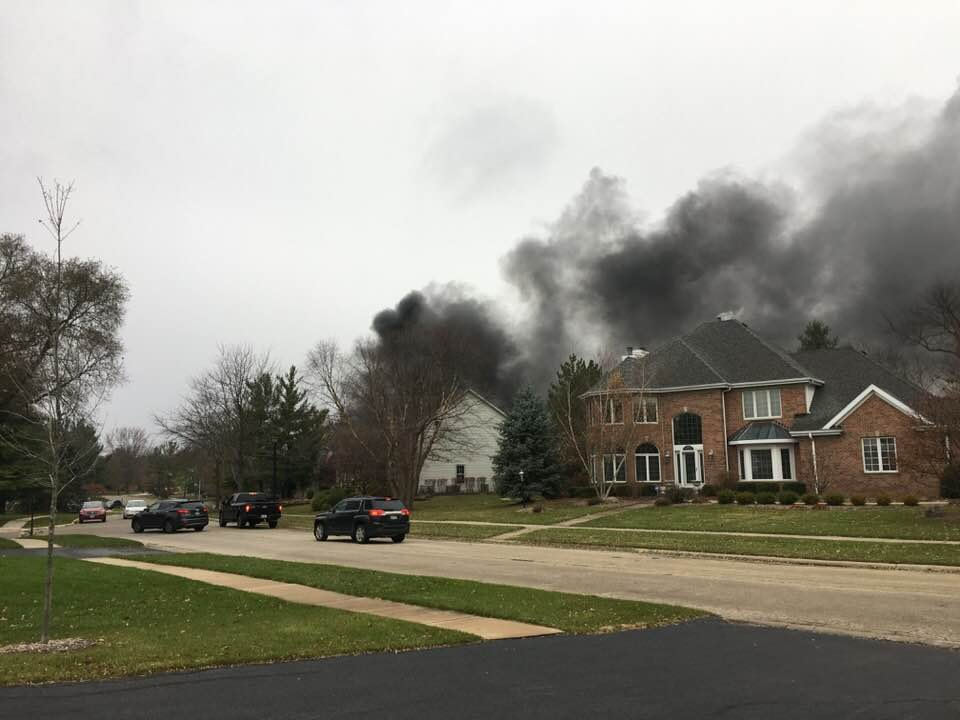 House fire in the 3600 block of Hermitage Trail in Rockford