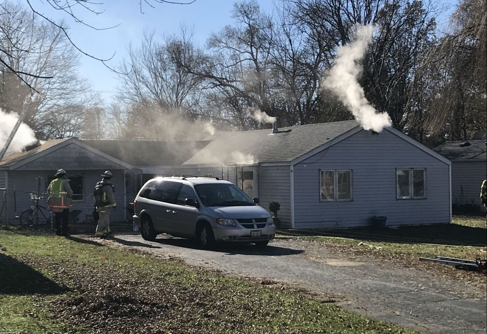 Fire on Wallace Ave. in Machesney Park