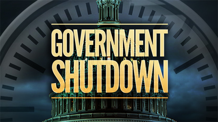 United States  government shutdown after Congress fails to vote