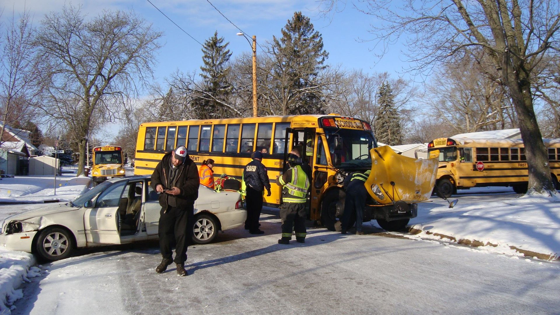 Quincy school bus driver cited following crash