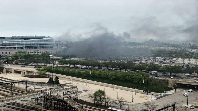 Black smoke seen near Soldier Field after reported explosion