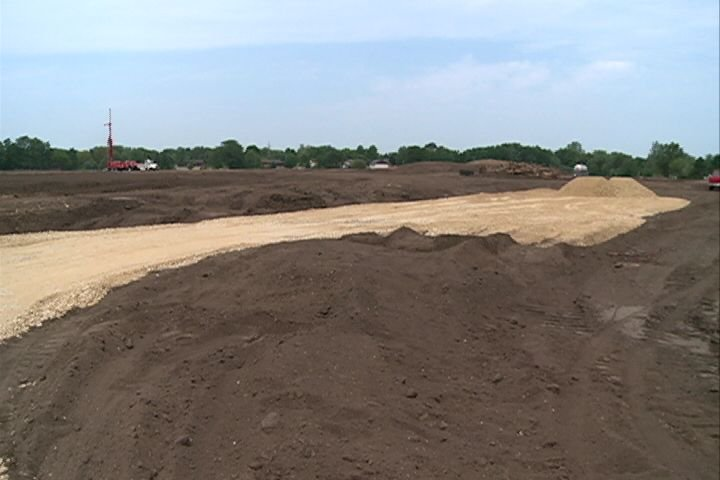 Construction underway on sports fields near Hononegah Road.