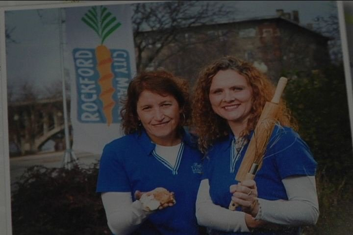 Bella Luna Bakery owners Polly Matranga Happach and Lorie Parker-Weinrich.