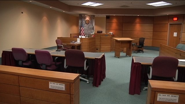 Judge Rosemary Collins' courtroom in the 17th Judicial Circuit Court.