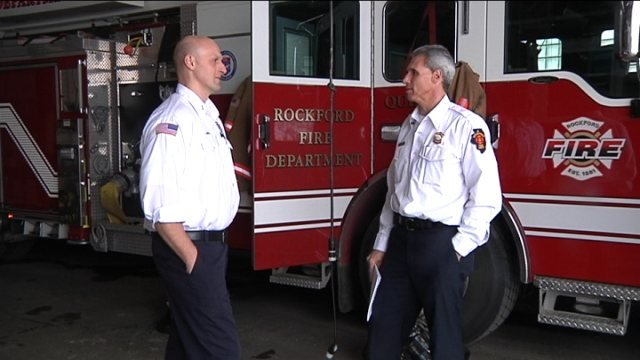 Rockford Fire Department Lt. Judd Griffith (left)
