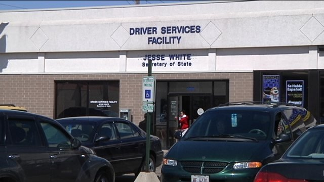 Drivers' facility on East State St. stays busy.