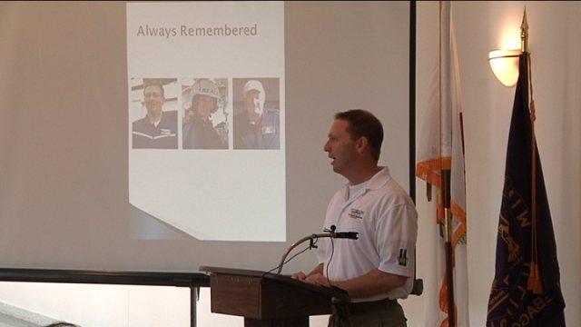 Will Pederson Winnebago County 9/11 Emergency Responders Memorial board president.