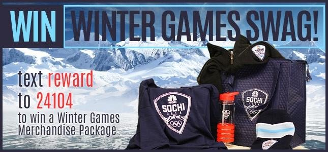 WREX Mobile Reward Club Winter Games Merchandise Giveaway - Text REWARD to 24104