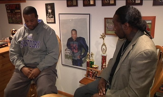 Calvin Rhodes and Patrick Coleman (right) talk about Demontae.