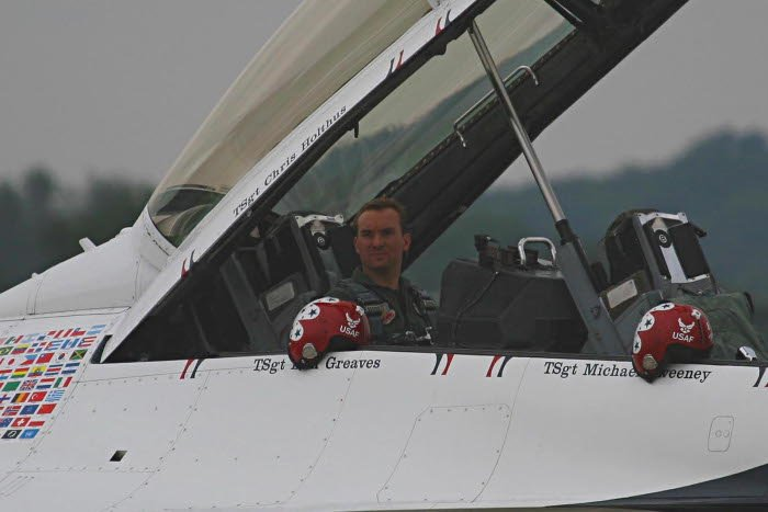 Eric with the Thunderbirds