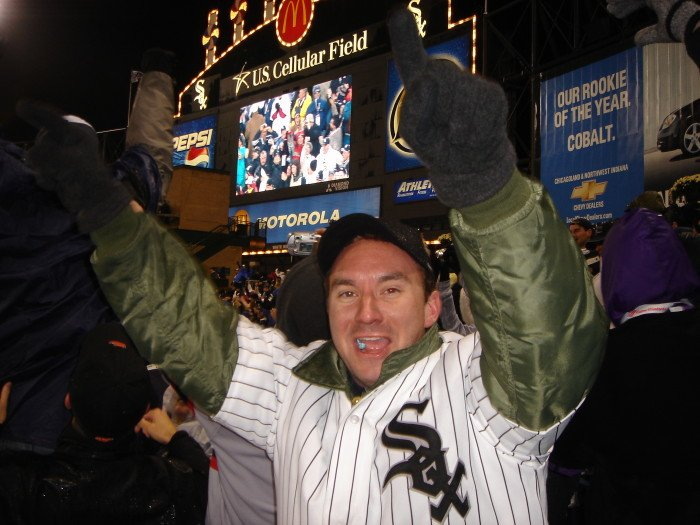 Eric celebrates the White Sox World Series Championship