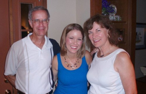 Jeannie with her parents.