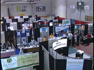 First Regional Business Expo held at Indoor Sports Center Thursday.