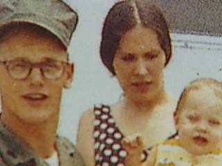 Vickie Babbitt (center) was arrested in September for the 1972 murder of her husband, Sgt. William Miller.