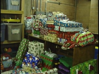 "Rockford College delivered about 150 gifts to St. Elizabeth Center as part of its ""Giving Tree"" program."