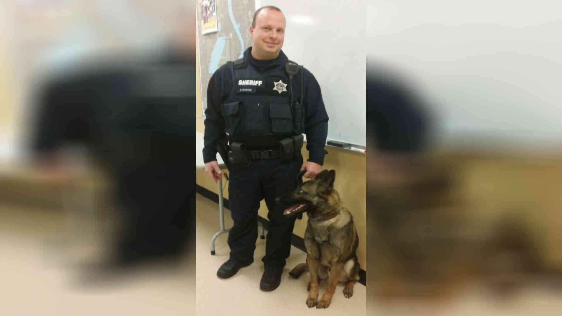 Winnebago County Sheriff's current K9 Chico and his handler, Deputy Eric Pearson