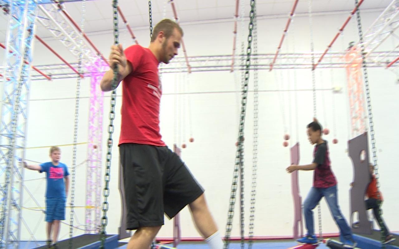 gymnastic academy of rockford opens ninja warrior course wrex
