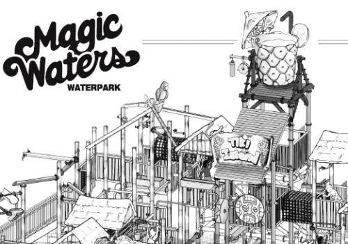 magic waters tiki island coloring contest