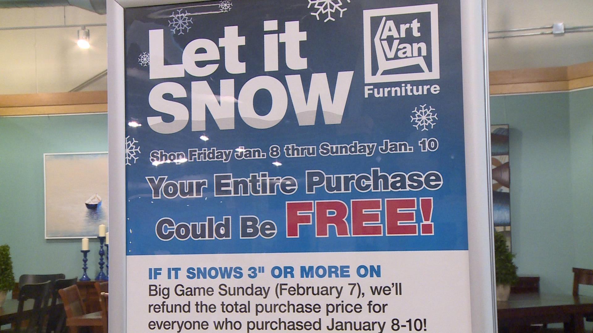 Rockford Furniture Store To Issue Refunds If It Snows On Super B Ktiv News 4 Sioux City Ia